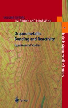 Cover of the book Organometallic bonding and reactivity fundamentals studies