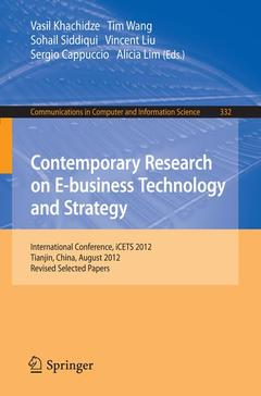 Couverture de l'ouvrage Contemporary Research on E-business Technology and Strategy