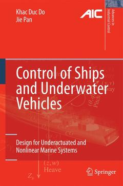 Couverture de l'ouvrage Control of Ships and Underwater Vehicles