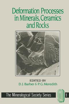 Cover of the book Deformation processes in minerals, ceramics and rocks(mineralogical society series vol 1)
