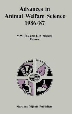 Couverture de l'ouvrage Advances in animal welfare science 1986/ 87