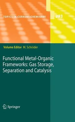 Couverture de l'ouvrage Functional metal-organic frameworks