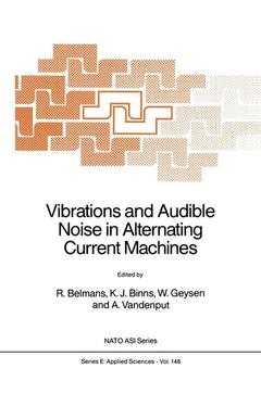 Couverture de l'ouvrage Vibrations and audible noise in alternat ing current machines