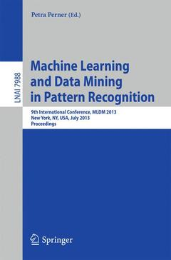 Couverture de l'ouvrage Machine Learning and Data Mining in Pattern Recognition