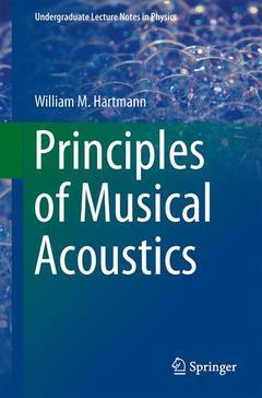 Couverture de l'ouvrage Principles of Musical Acoustics