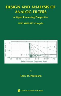 Couverture de l'ouvrage Design and analysis of analog filters