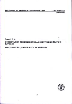 Couverture de l'ouvrage Rapport de la consultation technique sur la conduite de l'état du pavillon
