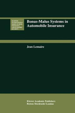 Couverture de l'ouvrage Bonus-malus systems in automobile insurance