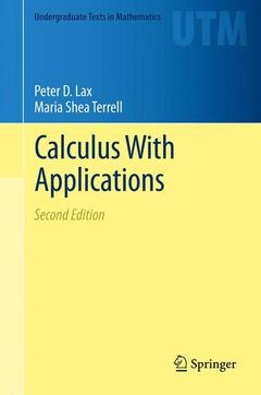 Couverture de l'ouvrage Calculus With Applications