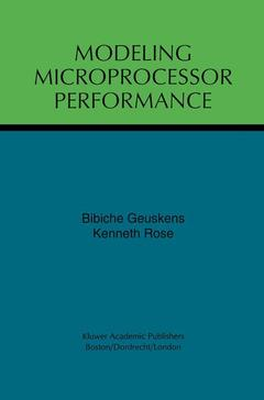 Cover of the book Modeling microprocessor performance