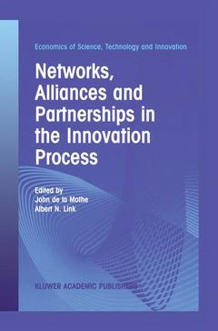Cover of the book Networks, Alliances and Partnerships in the Innovation Process