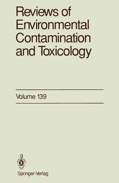 Cover of the book Reviews of environmental contamination and toxicology vol 139