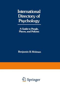 Cover of the book International Directory of Psychology