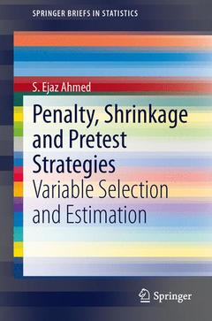 Couverture de l'ouvrage Penalty, Shrinkage and Pretest Strategies
