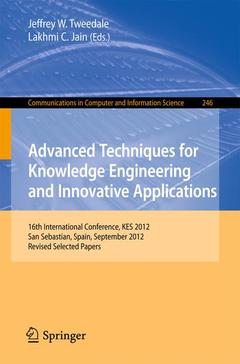 Couverture de l'ouvrage Advanced Techniques for Knowledge Engineering and Innovative Applications