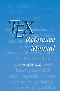 Couverture de l'ouvrage TeX reference manual