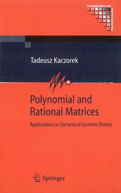 Couverture de l'ouvrage Polynomial and Rational Matrices