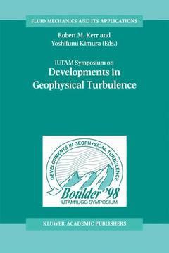 Couverture de l'ouvrage IUTAM Symposium on Developments in Geophysical Turbulence