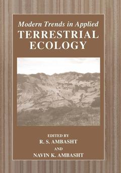 Couverture de l'ouvrage Modern trends in applied terrestrial ecology