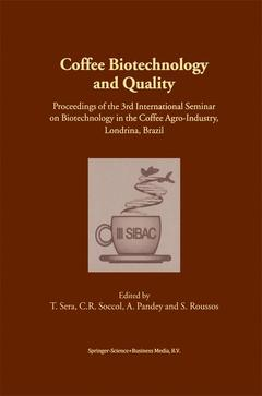 Couverture de l'ouvrage Coffee Biotechnology and Quality