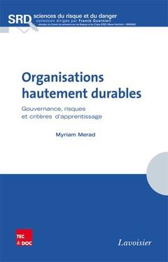 Couverture de l'ouvrage Organisations hautement durables