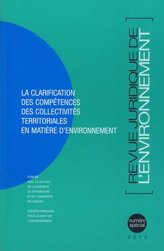 Couverture de l'ouvrage Revue Juridique de l'Environnement Hors-série 2013