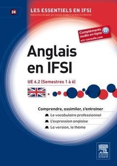 Couverture de l'ouvrage Anglais en IFSI UE 6.2 (semestre 1 à 6)