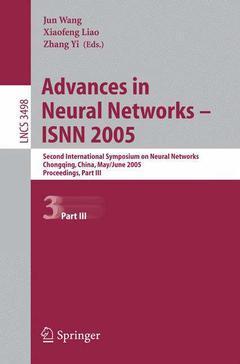 Couverture de l'ouvrage Advances in Neural Networks - ISNN 2005