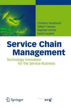 Couverture de l'ouvrage Service chain management