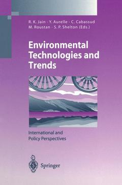 Couverture de l'ouvrage Environmental technologies & trends : international & policy perspectives