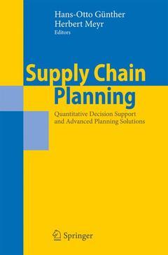 Couverture de l'ouvrage Supply Chain Planning