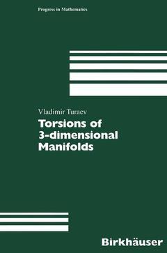 Couverture de l'ouvrage Torsions of 3- Dimensional Manifolds