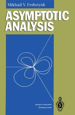 Couverture de l'ouvrage Asymptotic analysis : linear ordinary differential equations