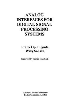 Cover of the book Analog interfaces for digital signal processing systems (Kluwer intl series in engineering and computer science 225/ 2nd printing 1995)