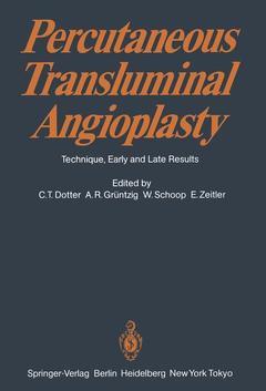 Couverture de l'ouvrage Percutaneous Transluminal Angioplasty