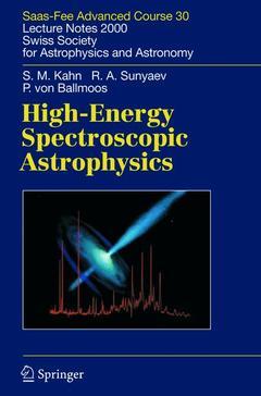 Couverture de l'ouvrage High-Energy Spectroscopic Astrophysics