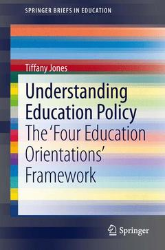 Couverture de l'ouvrage Understanding Education Policy