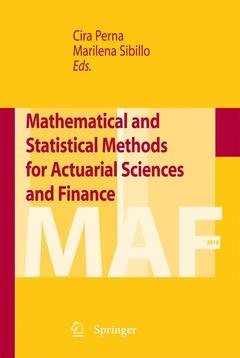 Cover of the book Mathematical and statistical methods for actuarial sciences and finance