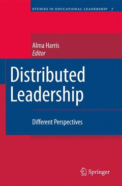 Couverture de l'ouvrage Distributed leadership: different perspectives
