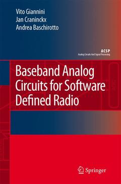 Couverture de l'ouvrage Baseband analog circuits for software defined radio (Analog circuits & signal processing)
