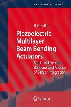 Couverture de l'ouvrage Piezoelectric multilayer beam bending actuators