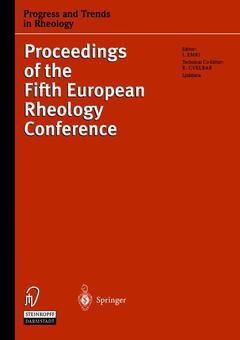 Couverture de l'ouvrage Progress & trends in rheology V (5th european rheology conf., Portoro, 6.11/9/1998)
