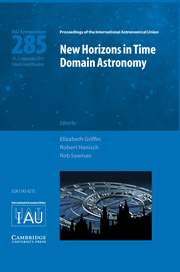 Cover of the book New Horizons in Time Domain Astronomy (IAU S285)