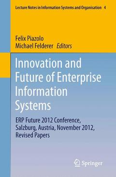 Couverture de l'ouvrage Innovation and Future of Enterprise Information Systems
