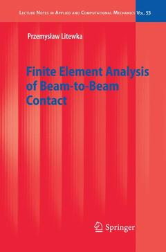 Couverture de l'ouvrage Finite Element Analysis of Beam-to-Beam Contact