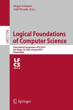 Couverture de l'ouvrage Logical Foundations of Computer Science