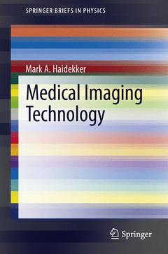 Couverture de l'ouvrage Medical Imaging Technology