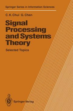 Couverture de l'ouvrage Signal processing and systems theory (Springer series in info. science/26)
