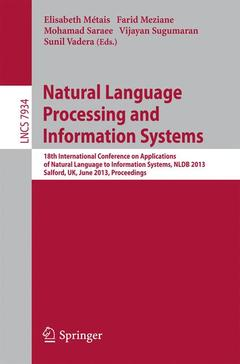 Couverture de l'ouvrage Natural Language Processing and Information Systems