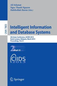 Couverture de l'ouvrage Intelligent Information and Database Systems